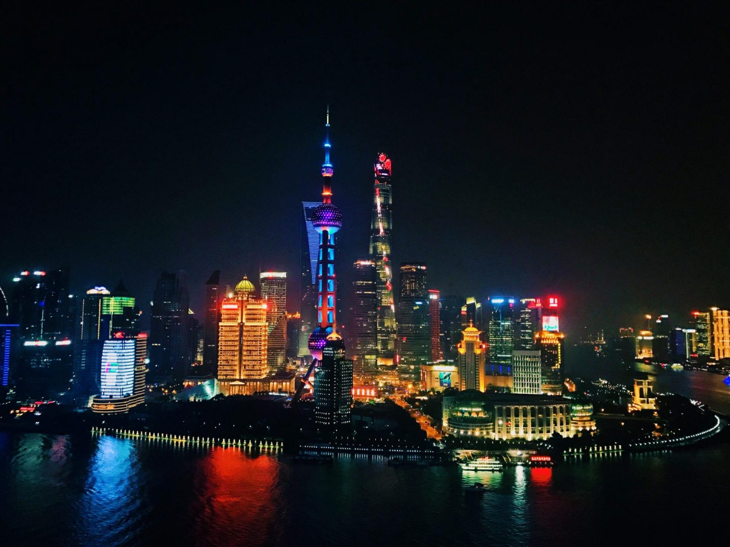 Night skyline in Shanghai