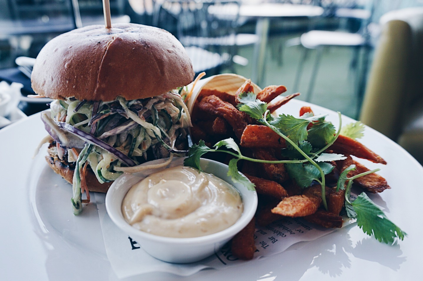 Burger at the Oxo Tower