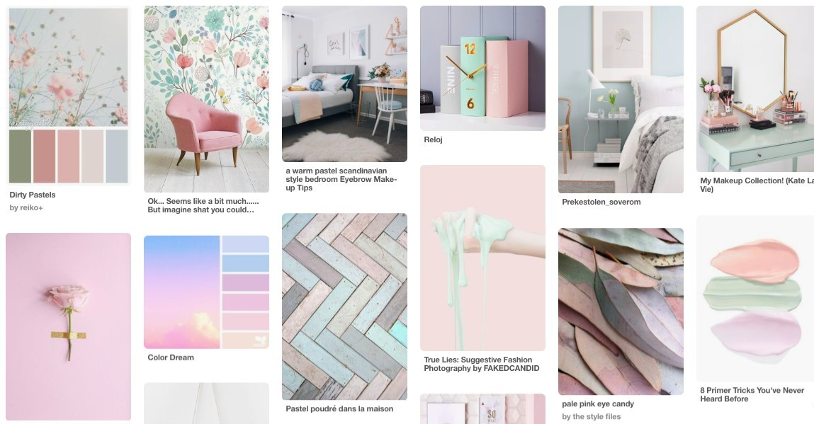 Pastel themed pintrest