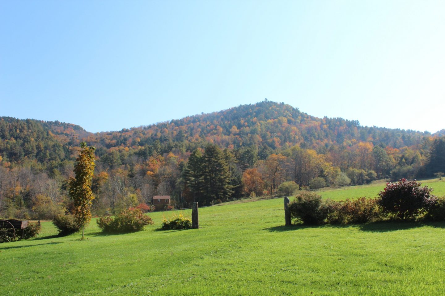 Mountain landscape in Vermont
