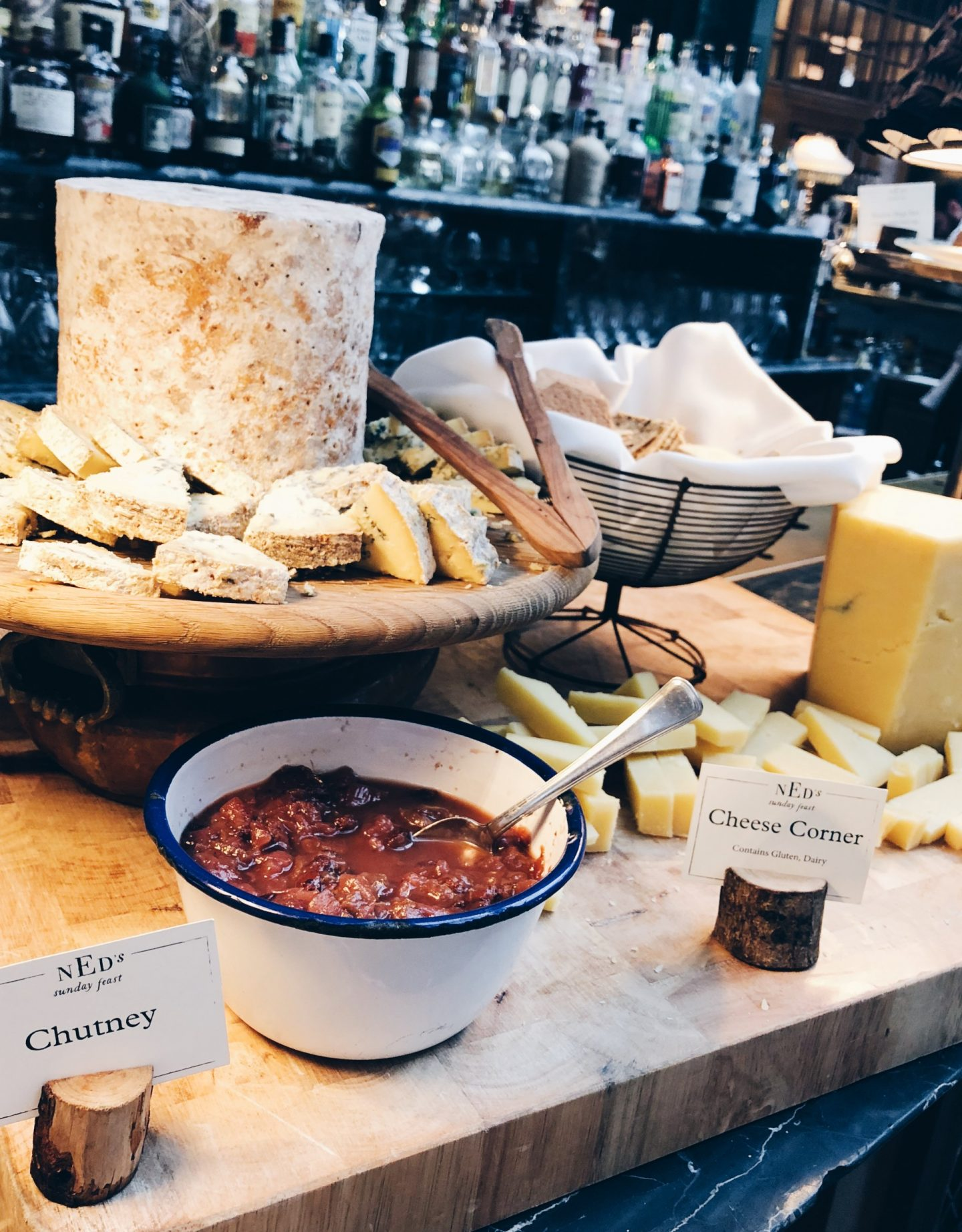 Cheese board at The Ned