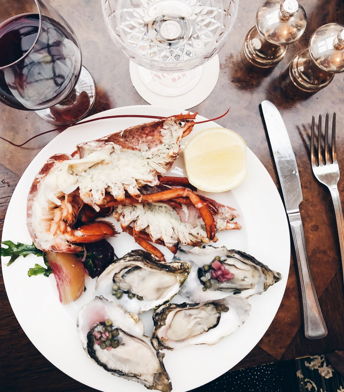 Lobster and Oysters at The Ned